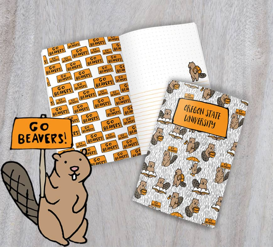 Oregon State University journal scrapbook the most fun OSU Beaver journal you will find anywhere!